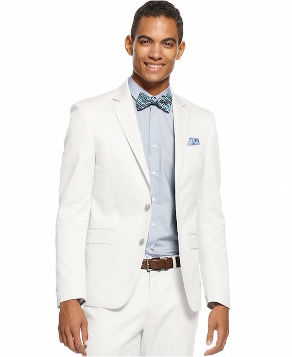 Calvin Klein Men's Slim Fit Suit-Separate Off-White Sport Coat ...