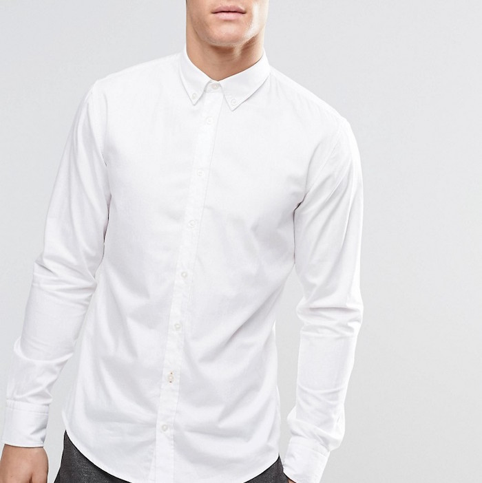 dfa13a7f BOSS Orange Shirt With Button Down In Slim Fit White