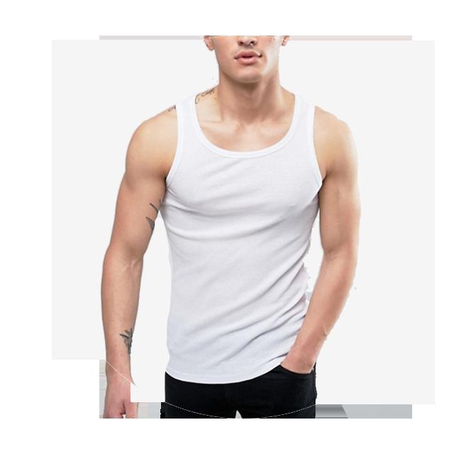 Solid Vest In White