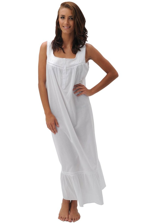 Del Rossa Women\'s Patricia 100% Cotton Long Victorian Sleeveless ...